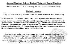 School Budget Vote Update