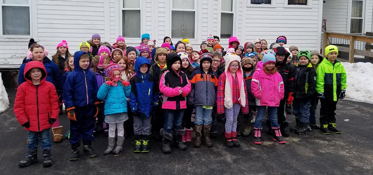 kids in winter coats